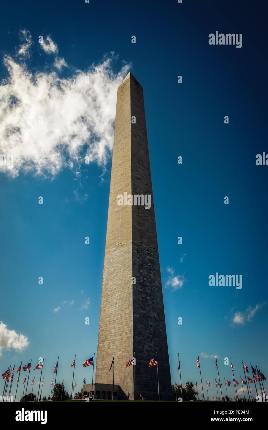 The Washington Monument in Washington, DC. - Stock Image