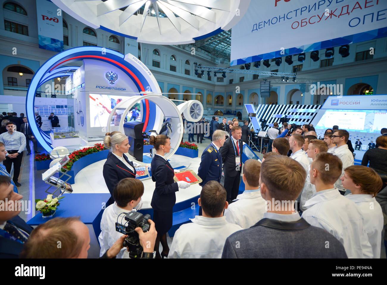 73fb9e7636e4 Rosavtodor booth at TransRussia 2016 - transport exhibition in Moscow