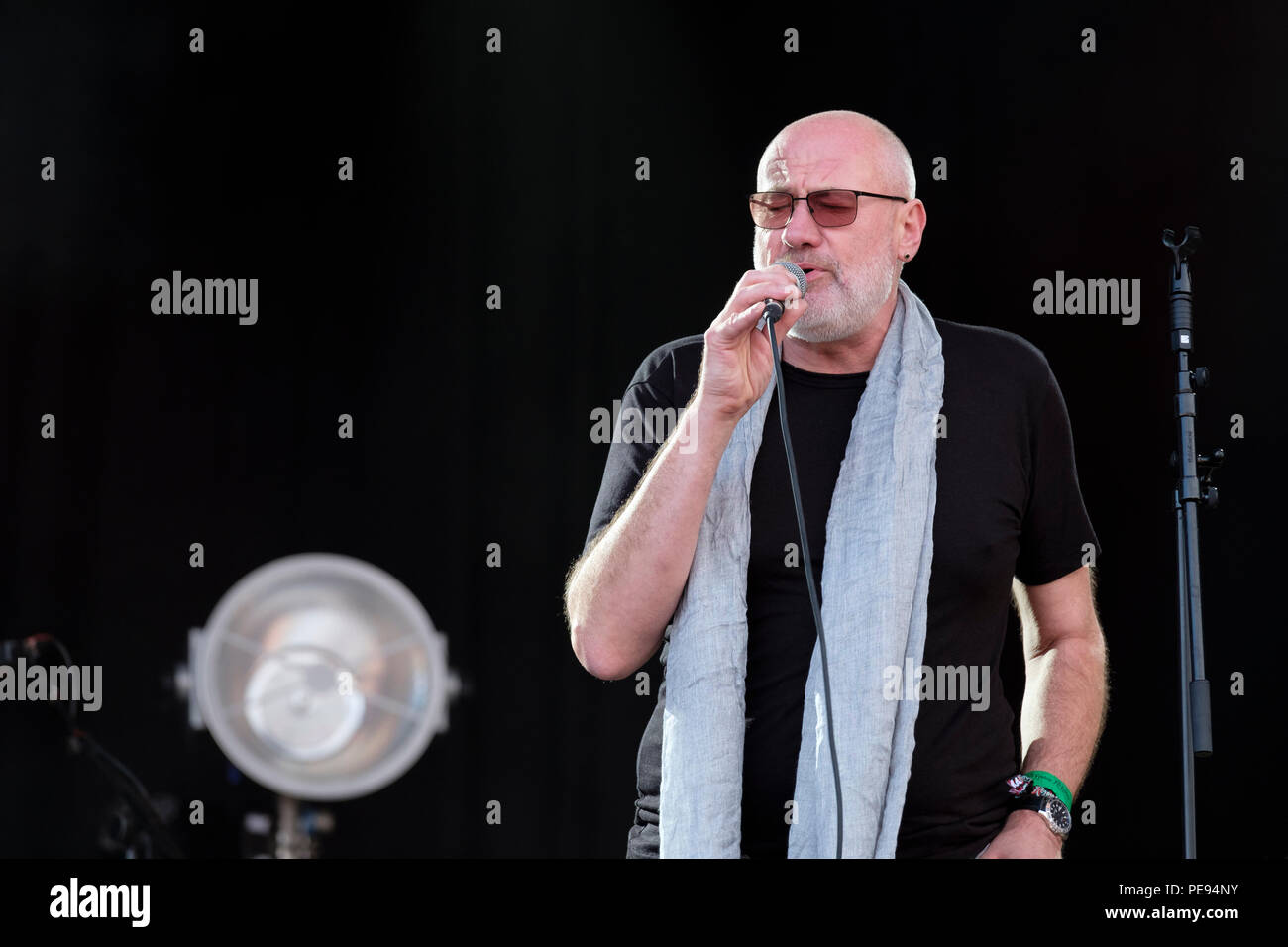 Fish performing at Fairport's Cropredy Convention, England, UK. August 10, 2018 - Stock Image