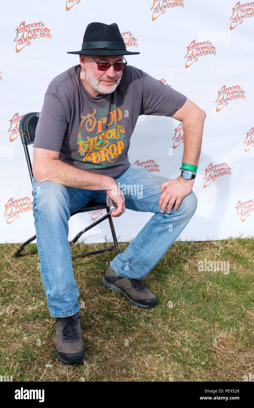 Fish backstage at Fairport's Cropredy Convention, England, UK. August 10, 2018 - Stock Image