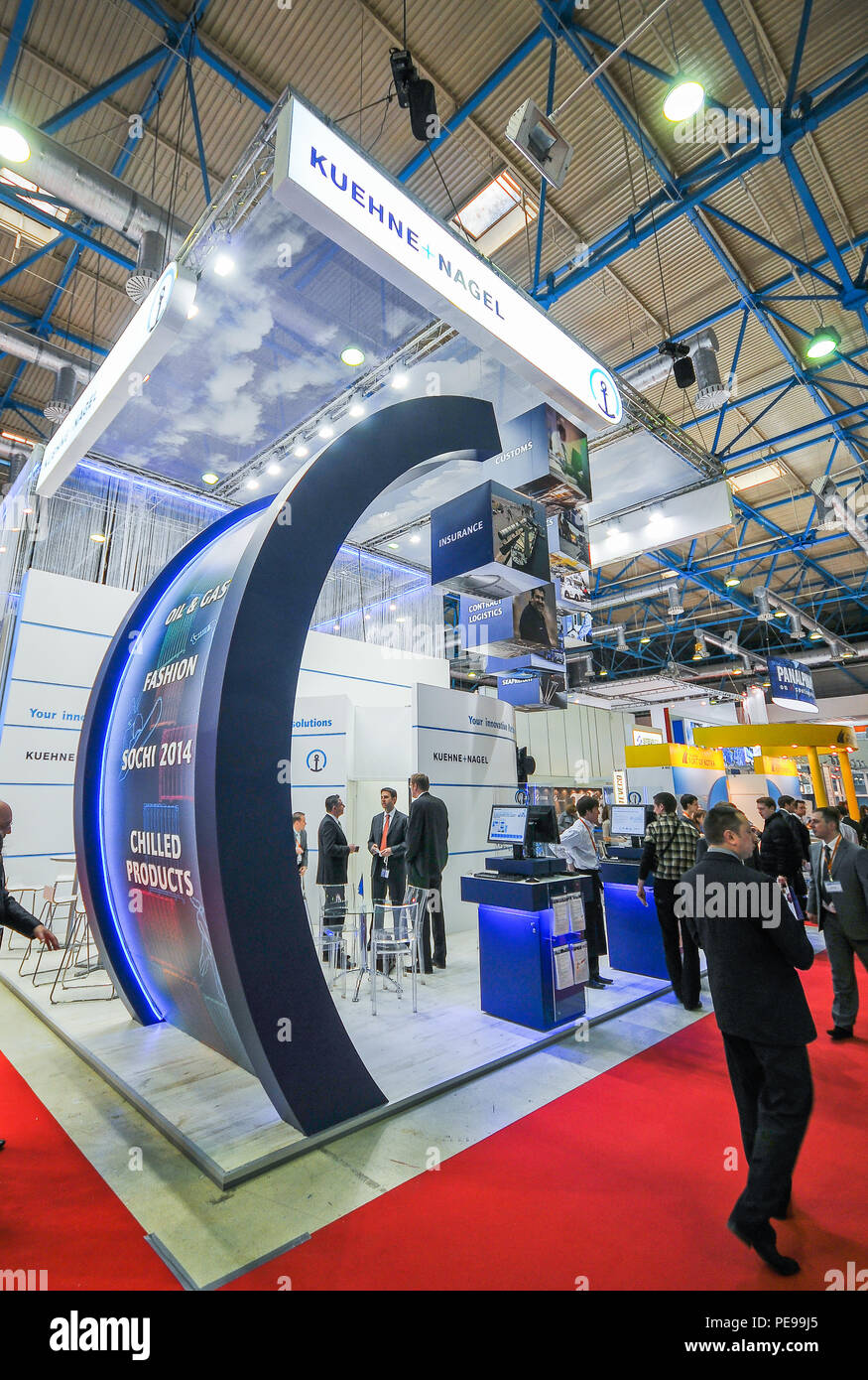 Exhibition Stand Logistics : Kuehne nagel booth at transrussia 2010 transport exhibition in