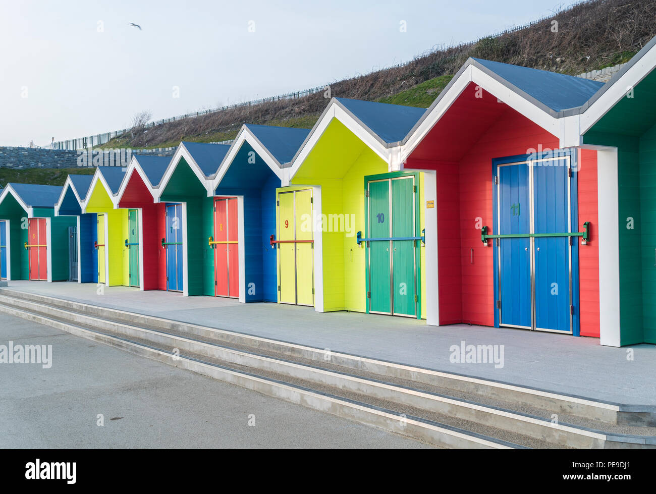 The newly renovated promenade at Barry Island. PHILLIP ROBERTS Stock Photo