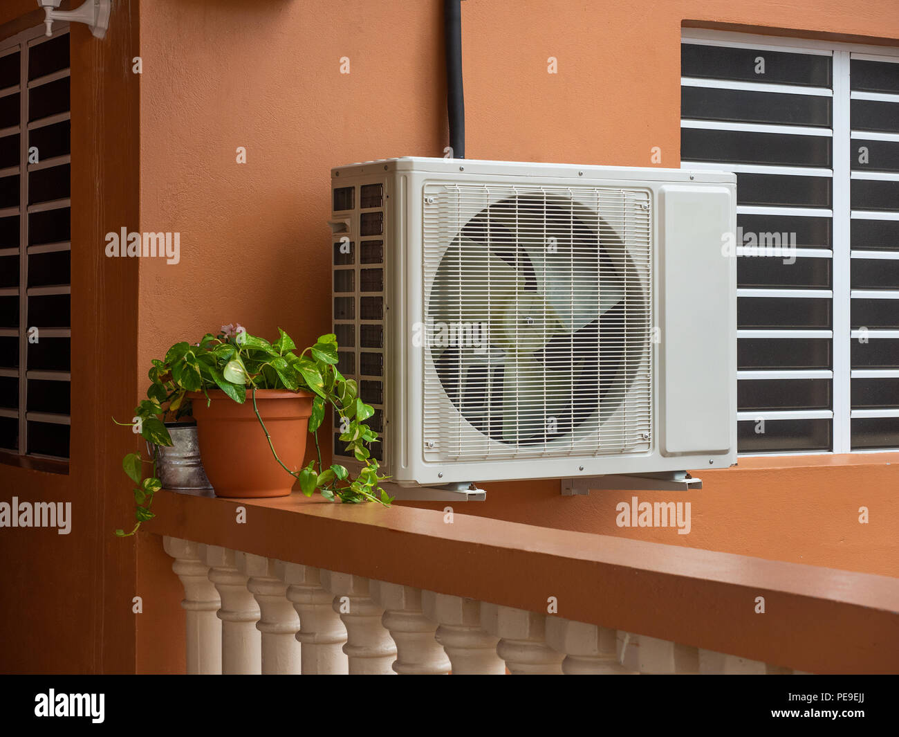 Air conditioner and heating heat pump - Stock Image