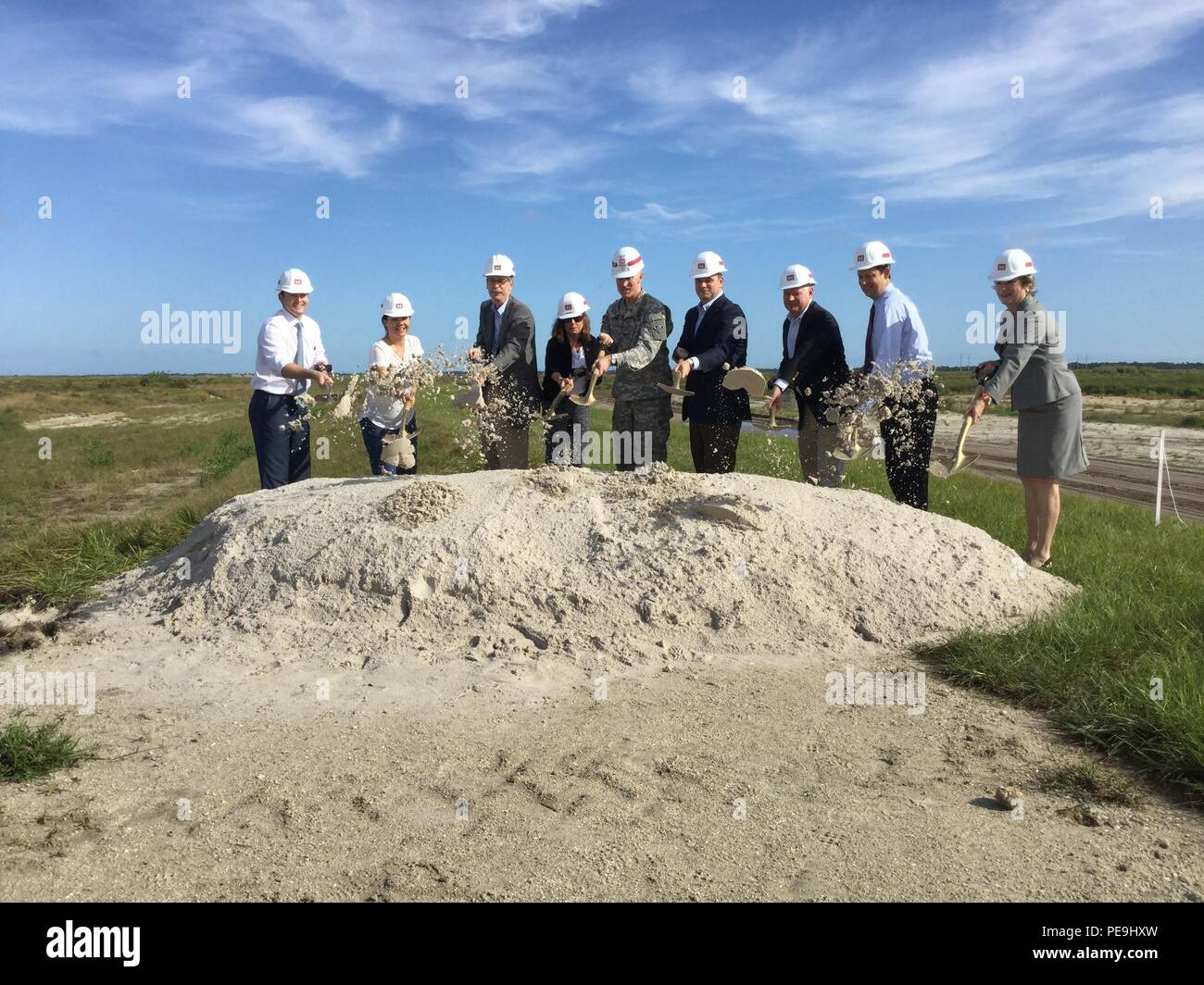 Federal, state and local officials celebrated the start of a major construction contract for the reservoir component of the C-44 Reservoir and Stormwater Treatment Area project Nov. 20, 2015, a critical restoration project to restore America's Everglades. Stock Photo