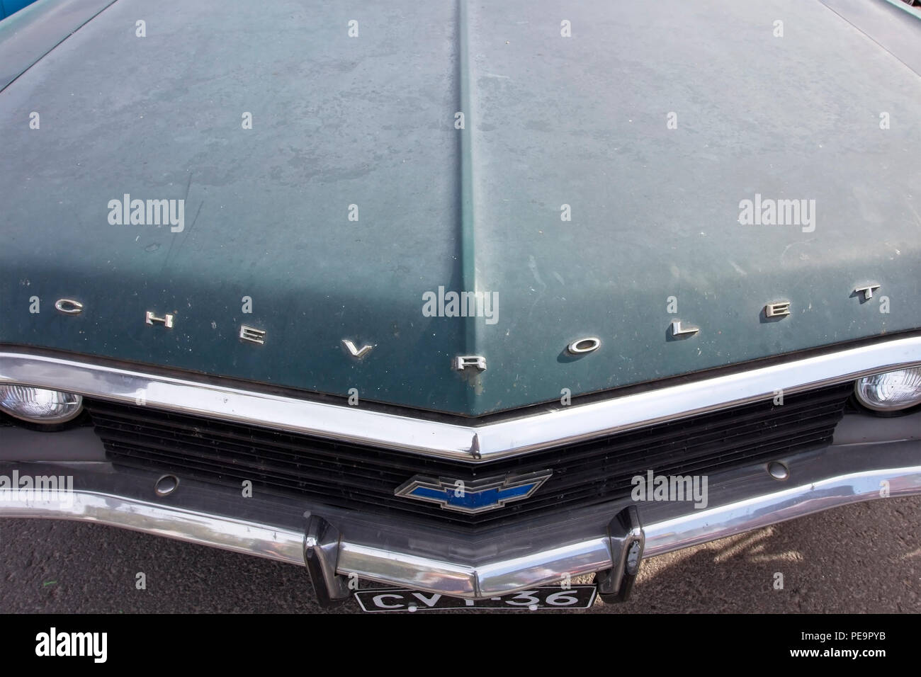 1960s Car Chevrolet Impala Stock Photos 1968 Custom Coupe Hood Detail Image
