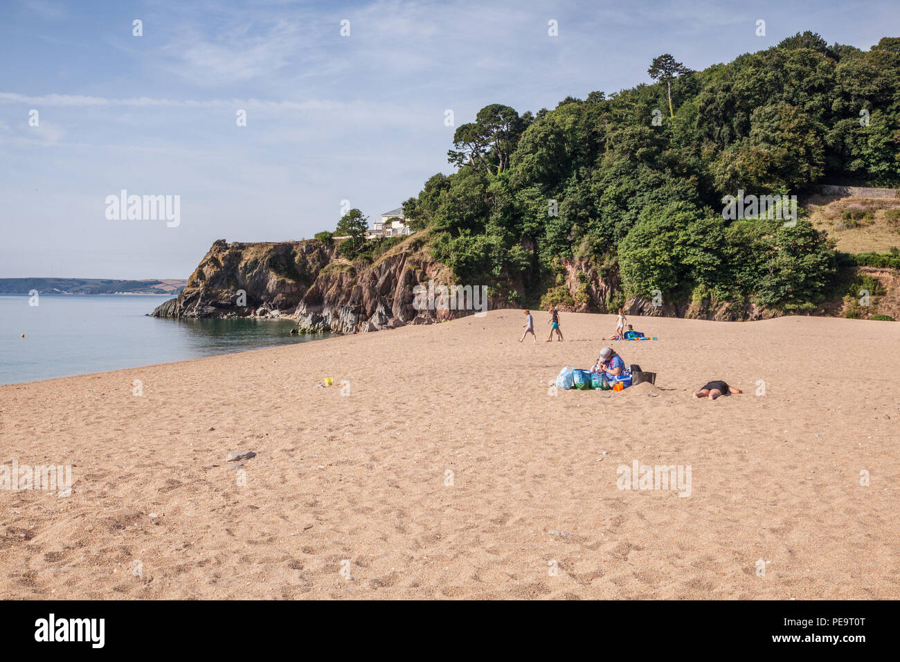 Blackpool Sands, Blackpool, Dartmouth,Devon, England, United Kingdom. - Stock Image