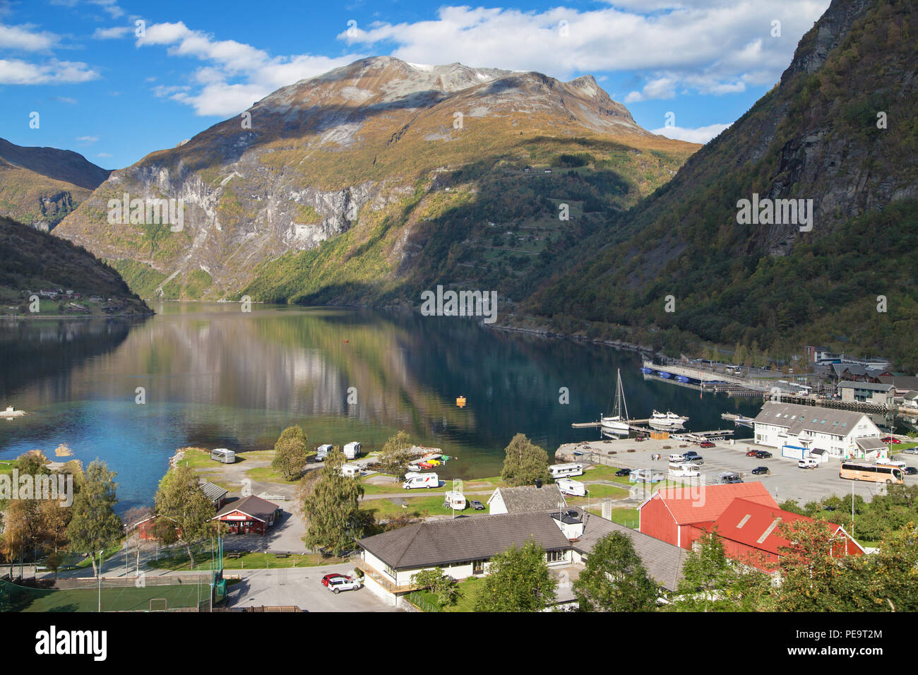 Port of Geiranger and the Geirangerfjord, More og Romsdal, Norway. - Stock Image