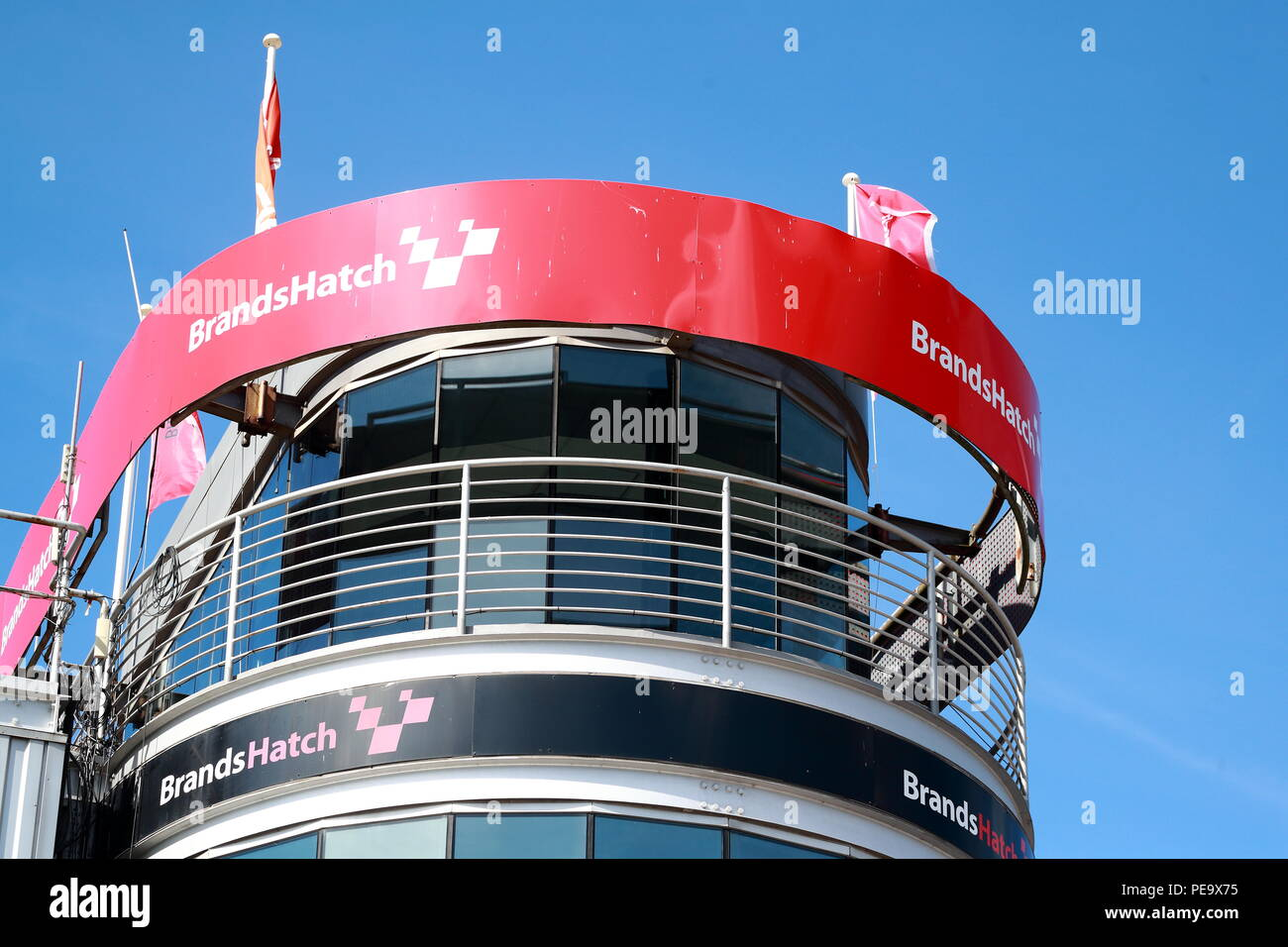 The control tower at Brands Hatch Circuit, UK - Stock Image