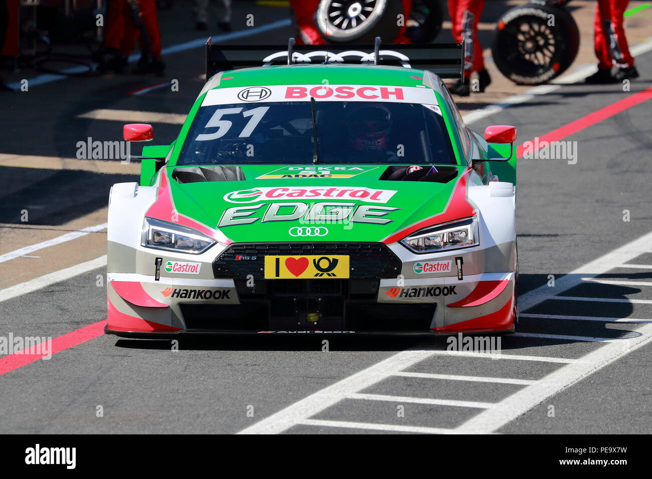 Nico Mueller in his Audi at the DTM Race 2018 at Brands Hatch Circuit, UK - Stock Image