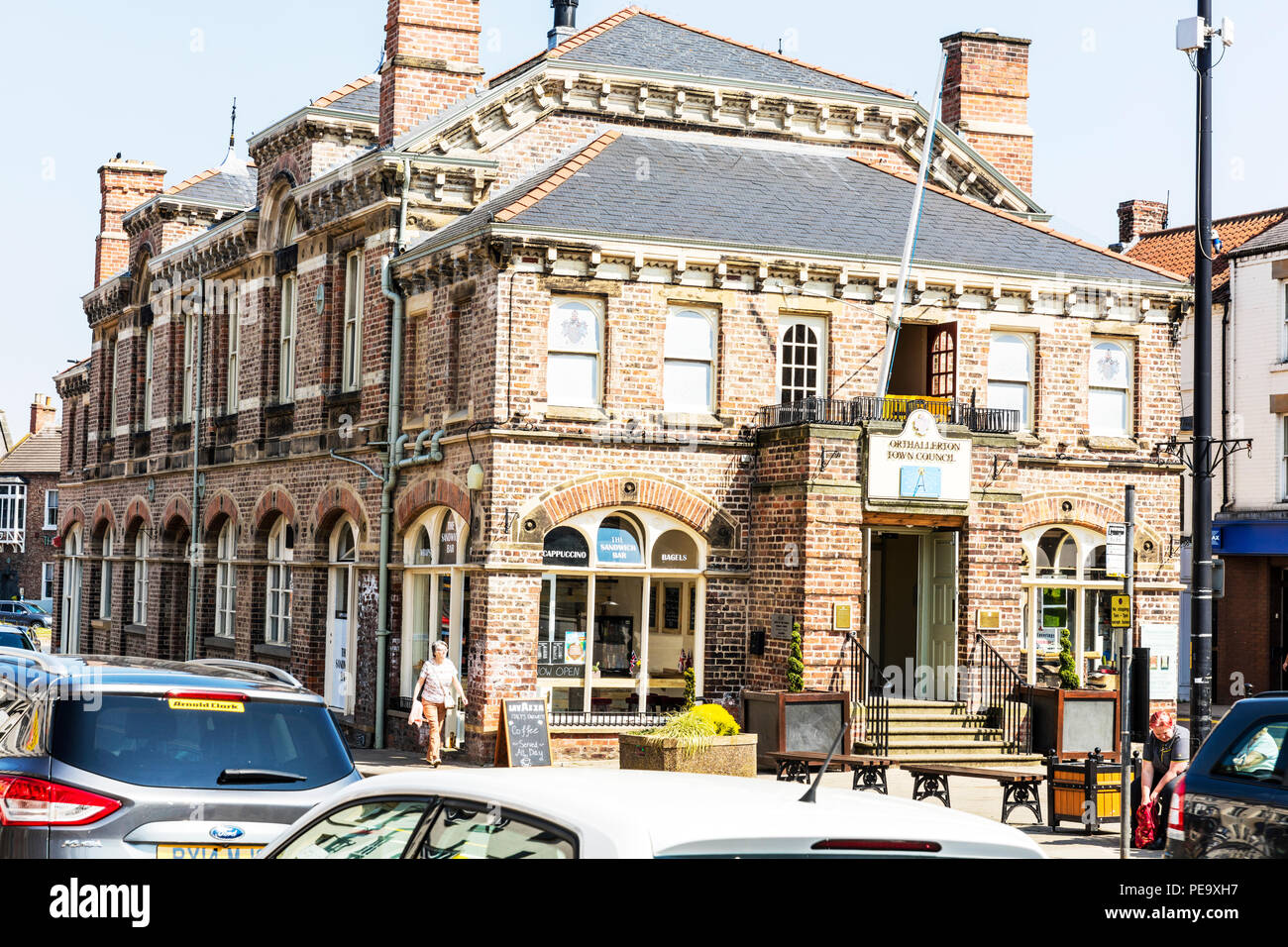 Northallerton Town Hall building, Northallerton Town Council, Town Hall Buildings, Town hall Northallerton Yorkshire UK, town hall, town halls, UK - Stock Image