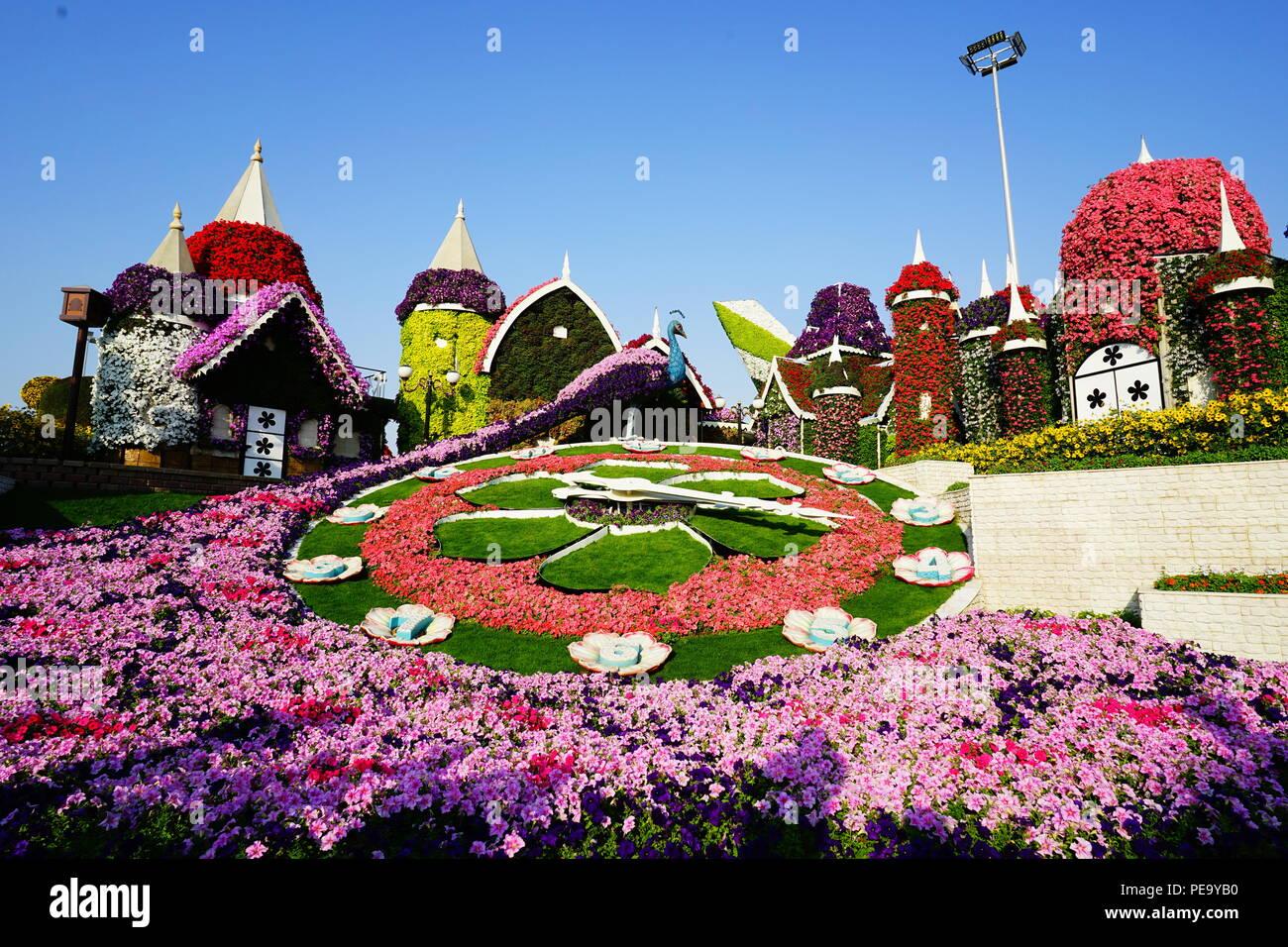 Flower Castle - Stock Image