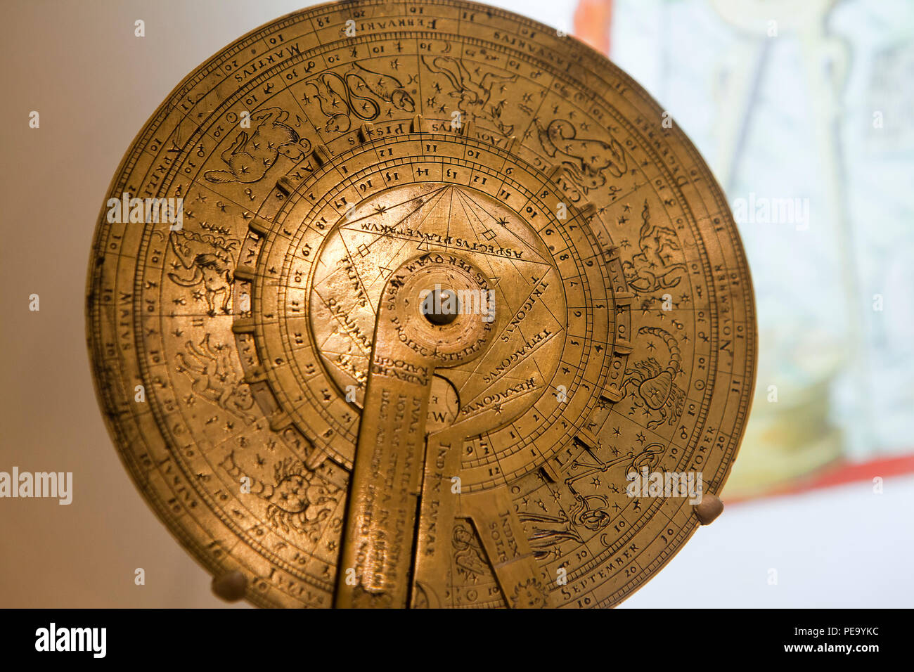 Nocturnal and sundial, circa 16th century - Stock Image