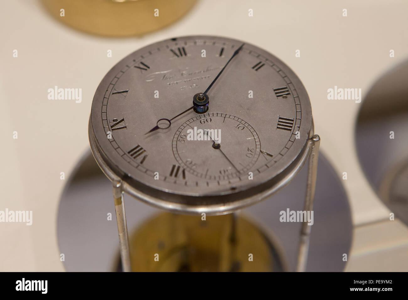 Marine chronometer movement (escapement), circa 1790s - Stock Image