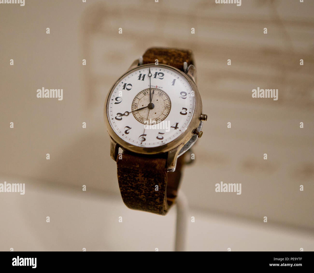 Longines-Wittnauer Weems second-setting watch (wristwatch.) - Stock Image