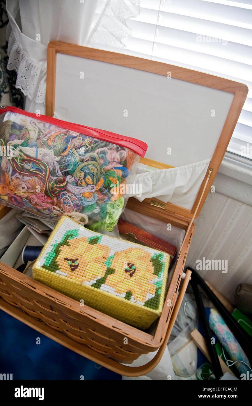 sewing kit - Stock Image