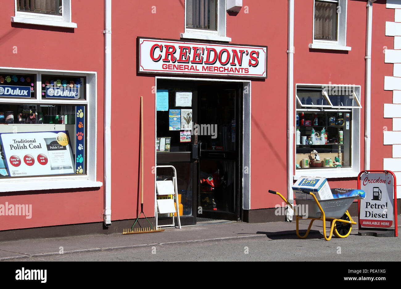 General merchants shop in Ireland - Stock Image