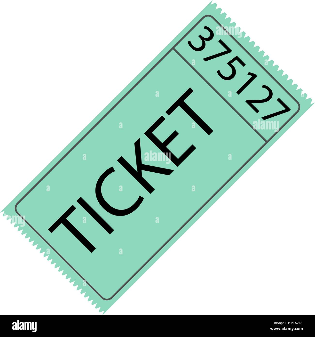 Tear-off ticket with number - Stock Image