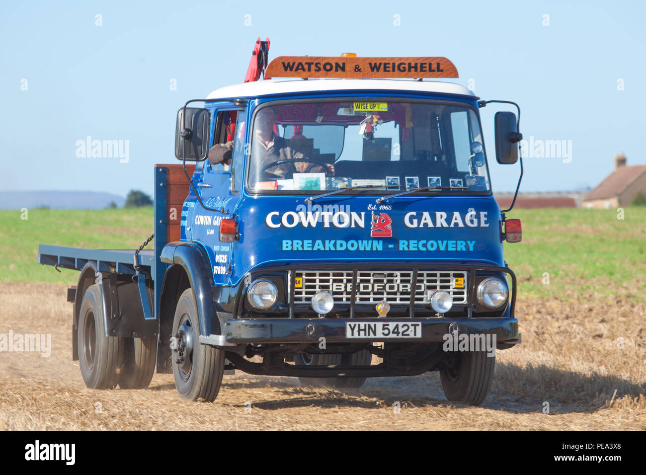 Classic Bedford Recovery Truck at a Classic Car Show & Ploughing Match at Ainderby,North Yorkshire Stock Photo