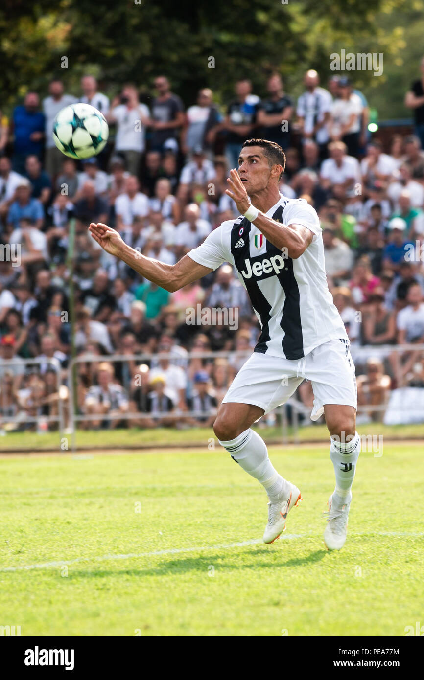 Villar Perosa Italy 12th Aug 2018 Cristiano Ronaldo Juventus During The Serie A Preseaosn Match Juventus Vs Juventus B Juventus A Won 5 0 In Villar Perosa Turin Itay 12th August 2018 Credit