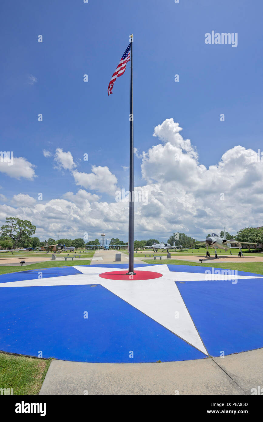 Air Park at Moody AFB was dedicated to President George W. Bush who was a pilot in training at Moody 1968-69. Stock Photo