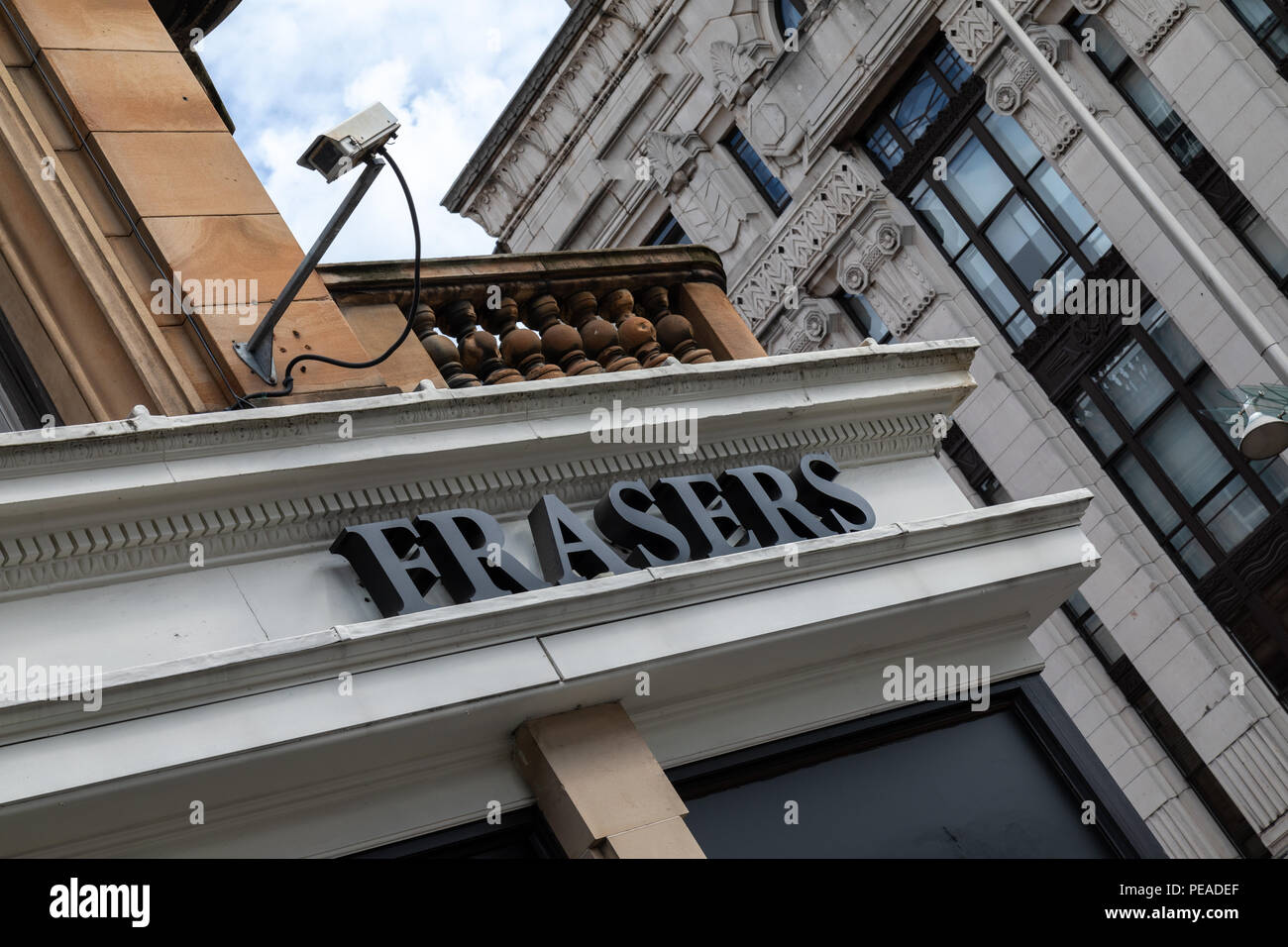 The House of Fraser department store on Buchanan Street in Glasgow city centre - Stock Image
