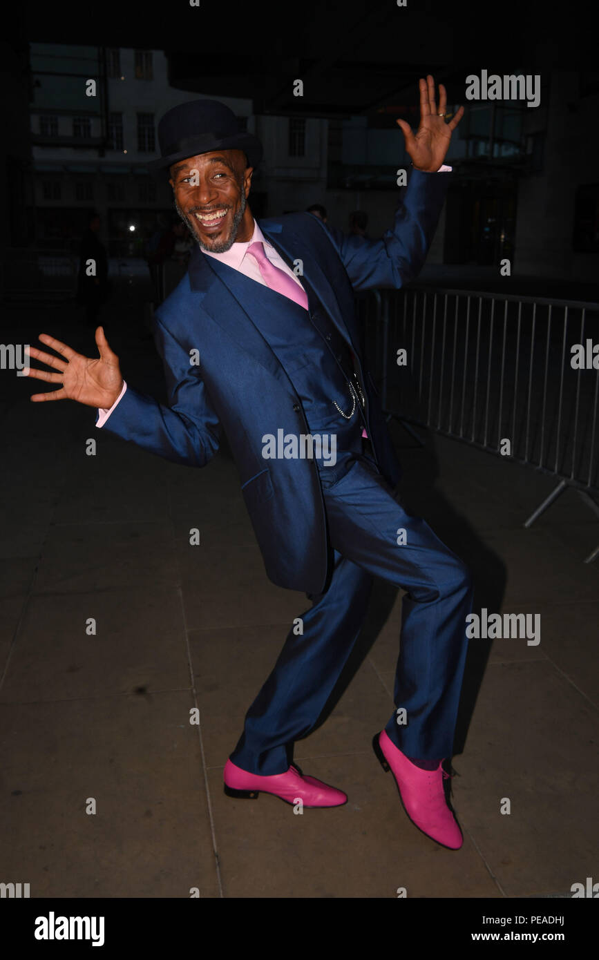 Red Dwarf star Danny John-Jules who has been unveiled as one of this year's Strictly Come Dancing contestants, outside the BBC after appearing on the One Show. - Stock Image