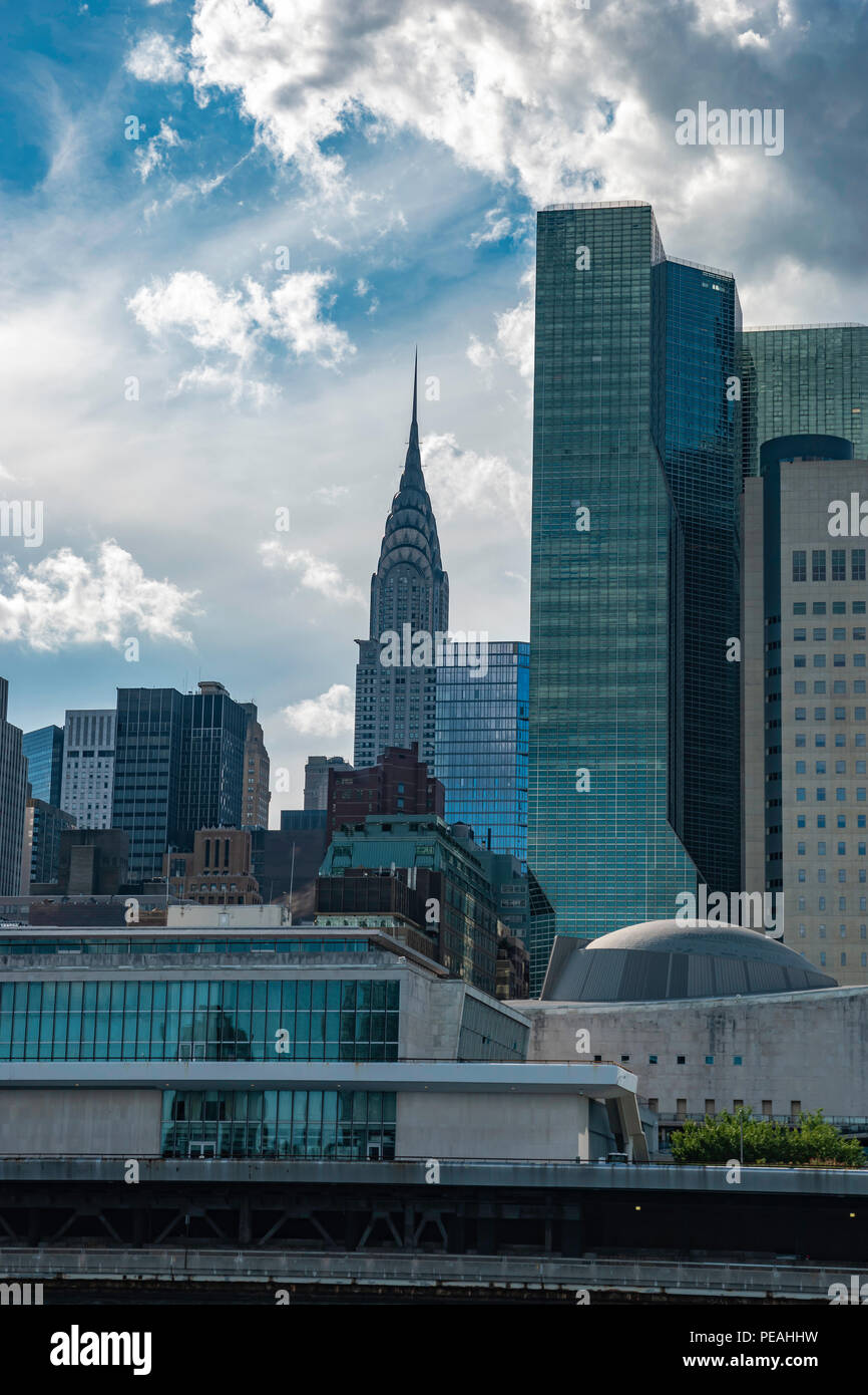 Cityscape with Chrysler Building - Stock Image