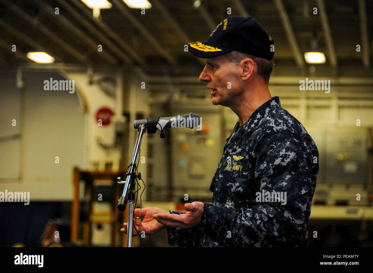 SASEBO, Japan – Vice Adm  Joseph Aucoin, commander of U S