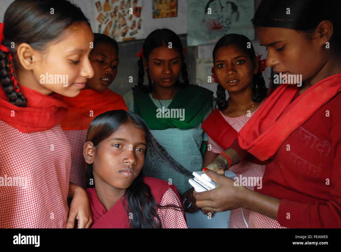 Indian School Girls Hair Style High Resolution Stock Photography And Images Alamy