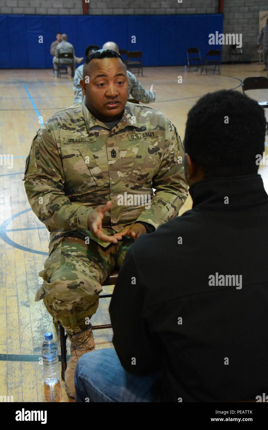 U S  Army 1st Sgt  Joseph Wilkerson, Headquarters Battery, 1st