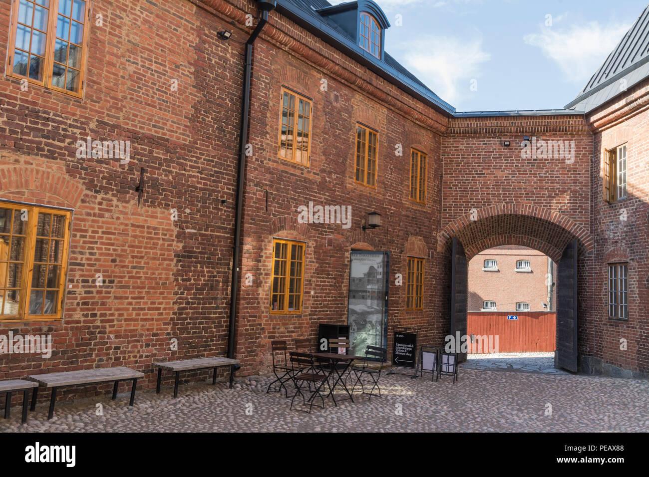 Medieval Häme castle surroundigs in Hämeenlinna Finland Stock Photo