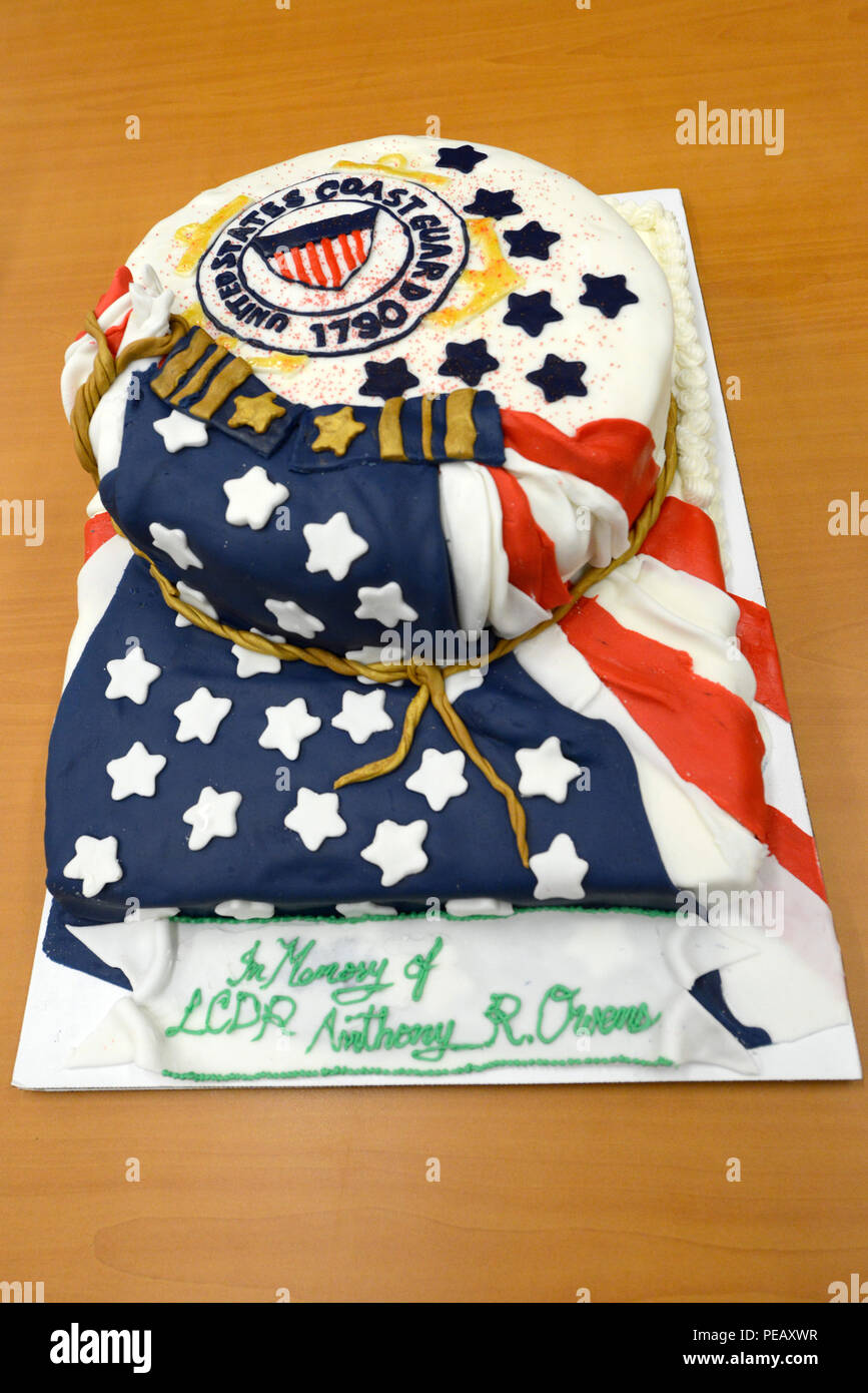 A Cake Presented At The Dedication Of The Lt Cmdr Anthony R Owens