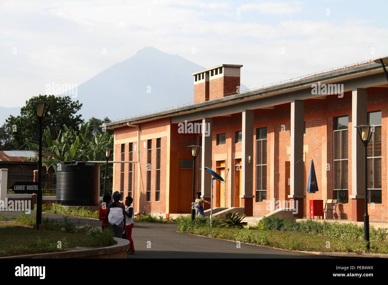 Musanze, Rwanda. 13th Aug, 2018. Photo taken on Aug. 8, 2018 shows a view of Integrated Polytechnic Regional College Musanze in Musanze district, northern Rwanda. As the largest polytechnic in northern Rwanda, the college, constructed by Chinese enterprise China Geo-Engineering Corporation using funds from the Chinese government, is playing an important role in training technical persons in Rwanda. Credit: Lyu Tianran/Xinhua/Alamy Live News Stock Photo