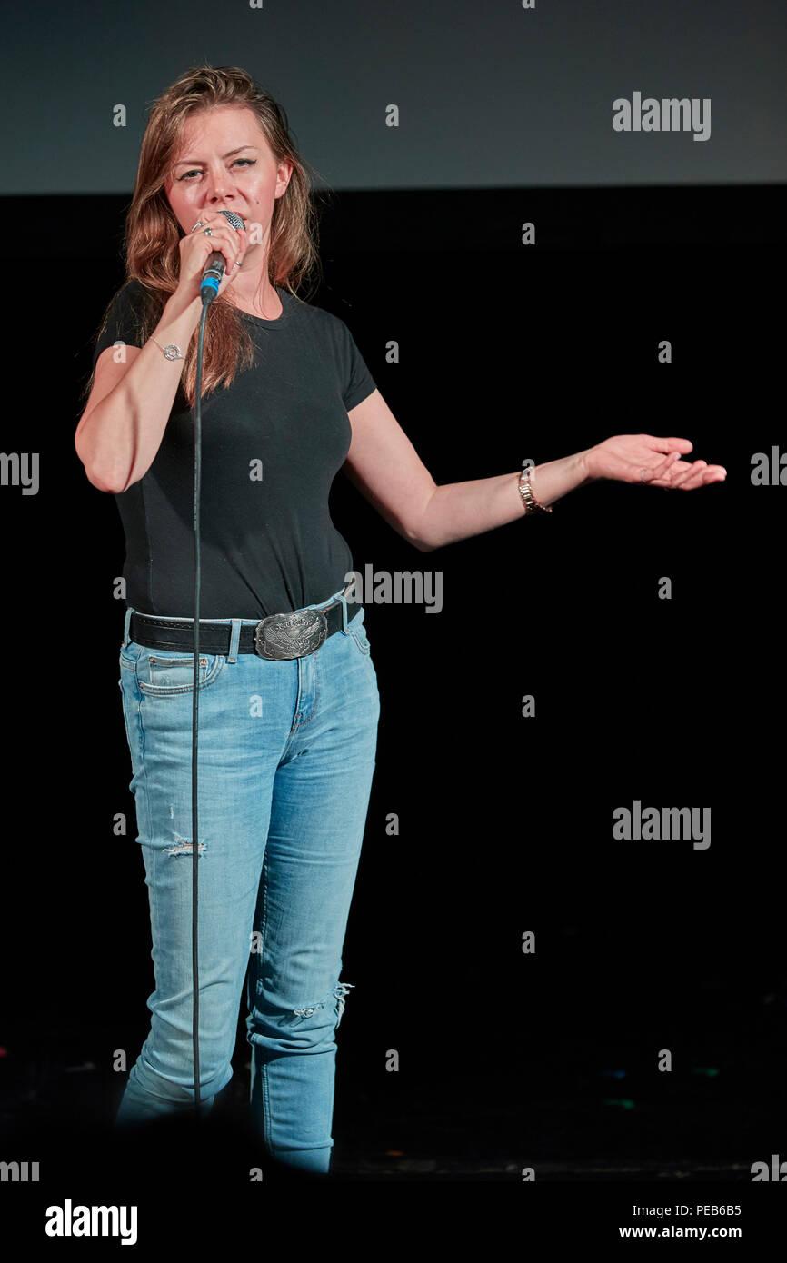 Edinburgh, UK. 13th August 2018. Edinburgh Pleasance Newcomer Comedy Gala 2018 Credit: Andrew Eaton/Alamy Live News. Stock Photo