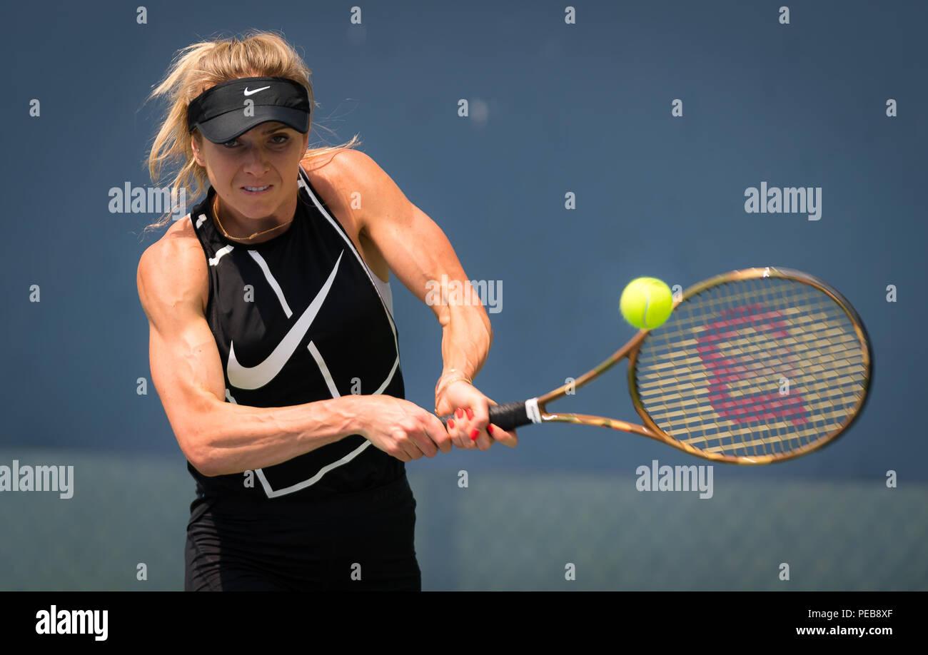Cincinnati, OH, USA. 13th Aug, 2018. Elina Svitolina of the Ukraine during practice at the 2018 Western & Southern Open WTA Premier 5 tennis tournament. Cincinnati, Ohio, USA, August 13th 2018. Credit: AFP7/ZUMA Wire/Alamy Live News Stock Photo