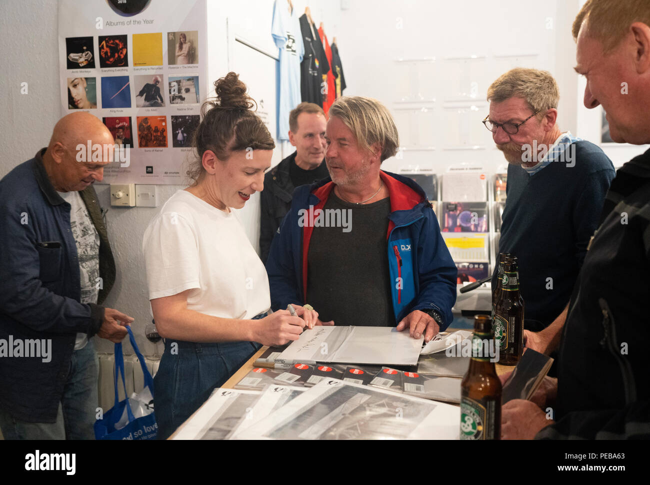 Edinburgh, Scotland. 13th August, 2018. Kathryn Joseph performs tracks from her new album 'From When I Wake The Want Is' at Assai Records in Edinburgh. Credit: Ben Collins/Alamy Live News Stock Photo