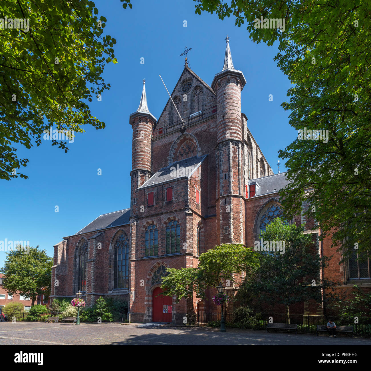 Pieterskerk, Leiden, Zuid-Holland (South Holland), Netherlands - Stock Image