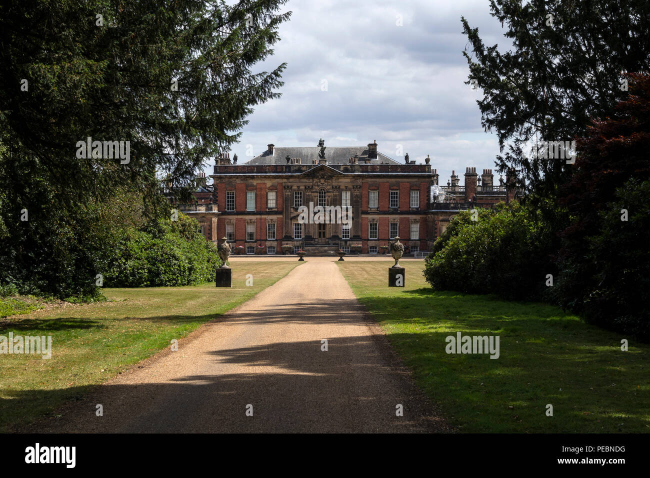 The West front of Wentworth Woodhouse, a Grade 1 listed country house near Rotherham, in South Yorkshire, UK Stock Photo