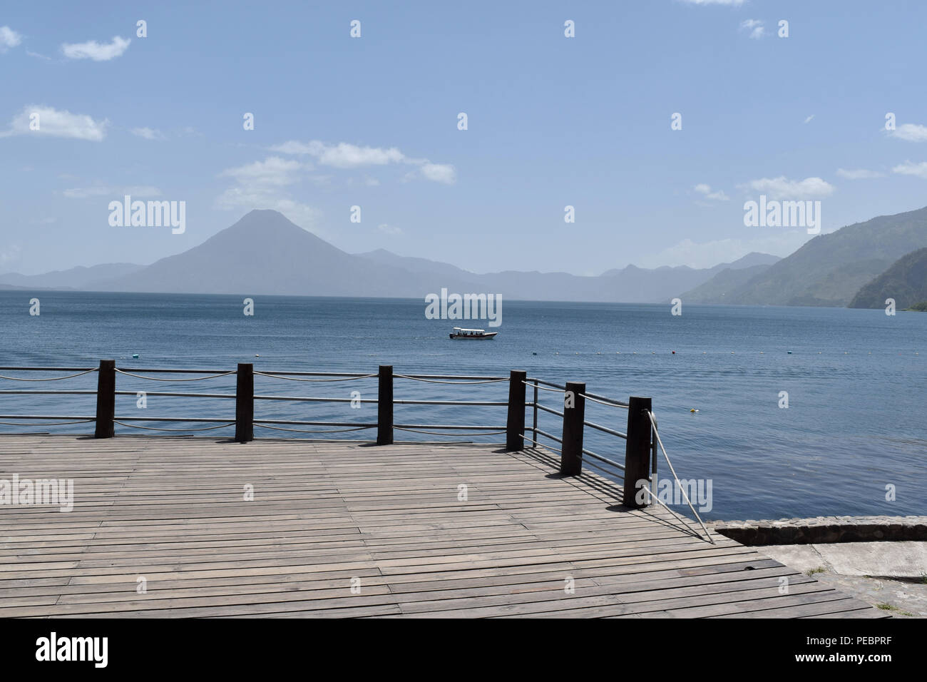 Beautiful lake of Panajachel in Guatemala July 14, 2018 - Stock Image