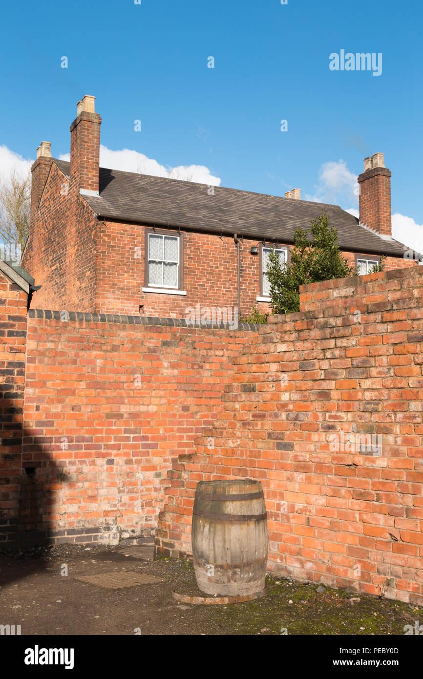 Old victorian or edwardian house, Black Country, West Midlands UK - Stock Image