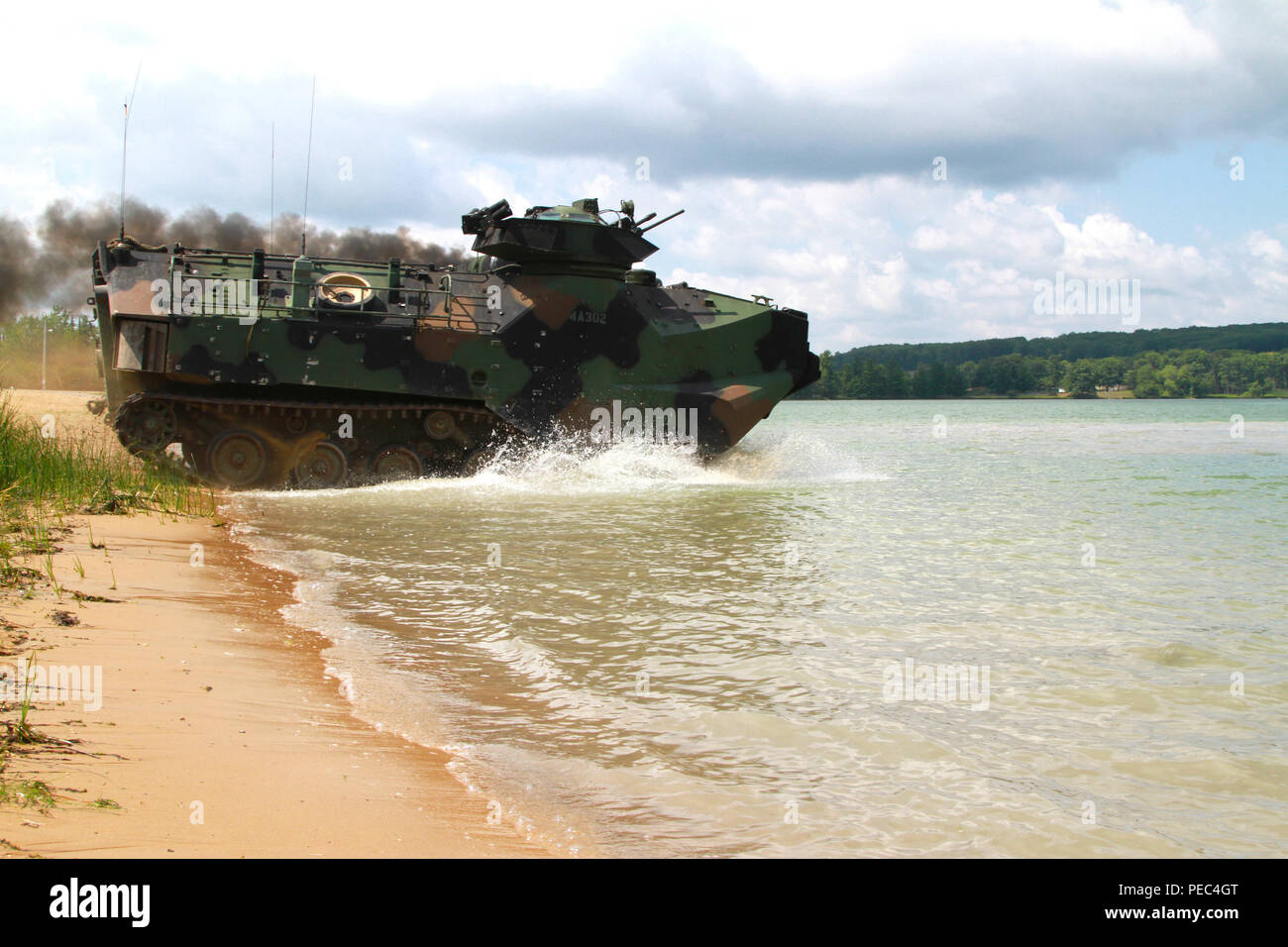 An Amphibious Assault Vehicle From Company A 4th Assault