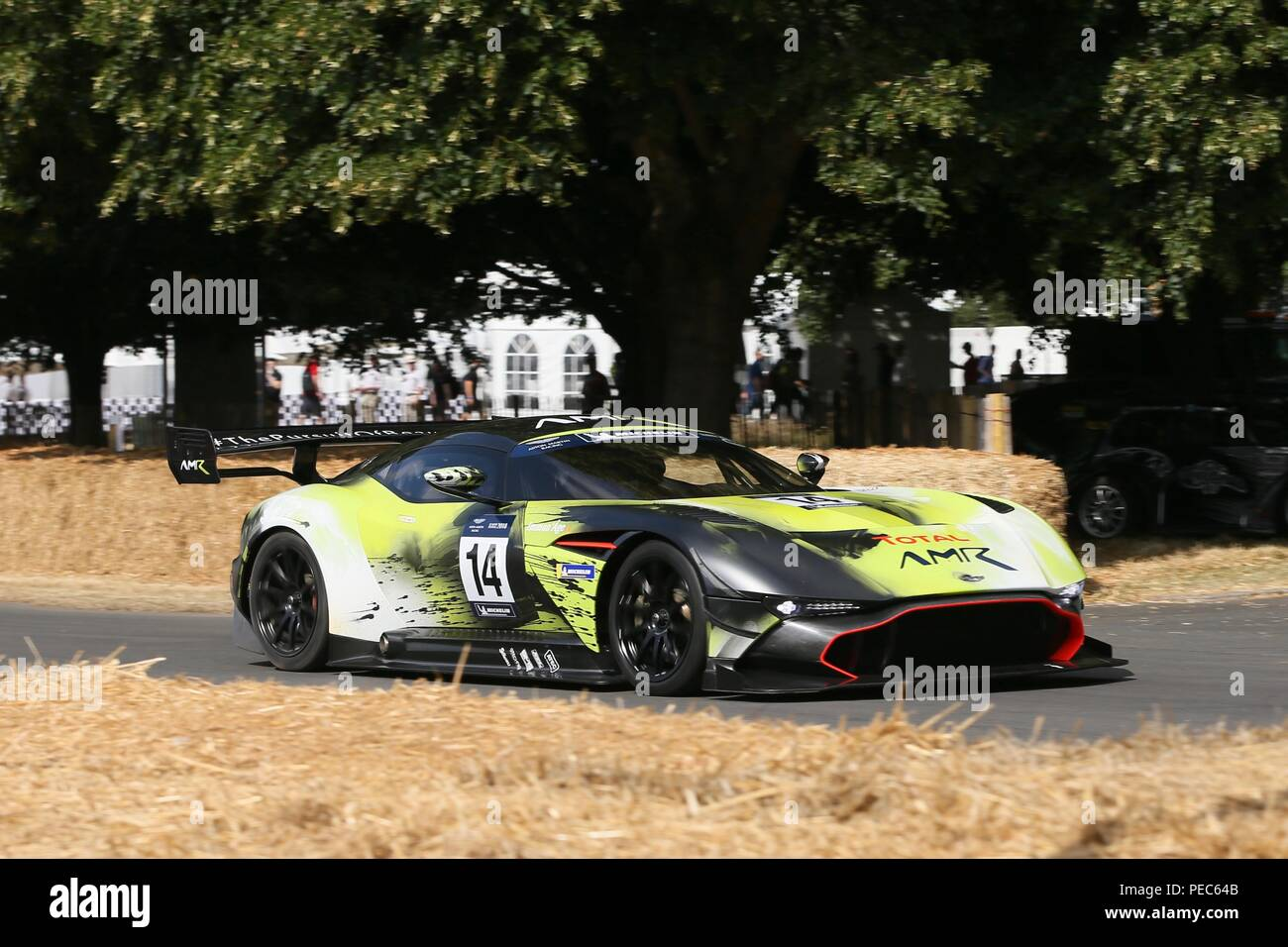 The Supercars take on the Hillclimb at Goodwood Festival of Speed on Day 1  Featuring: Aston Martin Vulcan AMR Where: London, United Kingdom When: 12 Jul 2018 Credit: Michael Wright/WENN.com - Stock Image