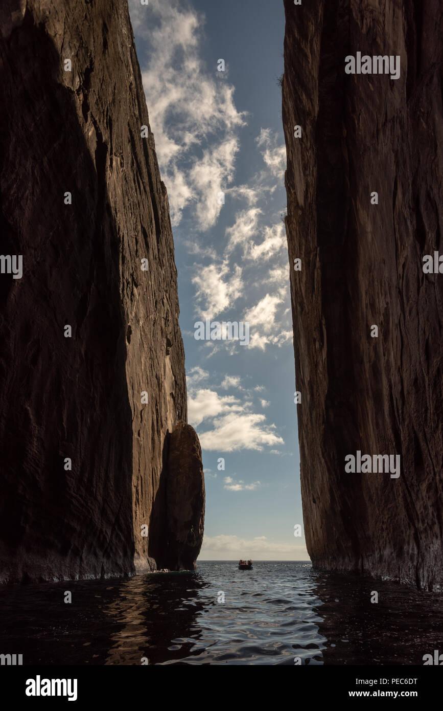 Sea Cliffs, San Cristobal - Stock Image