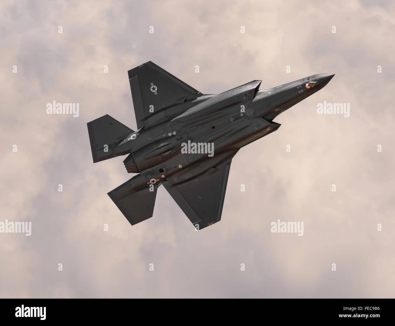 Lockheed F-35A Bottom View - Stock Image