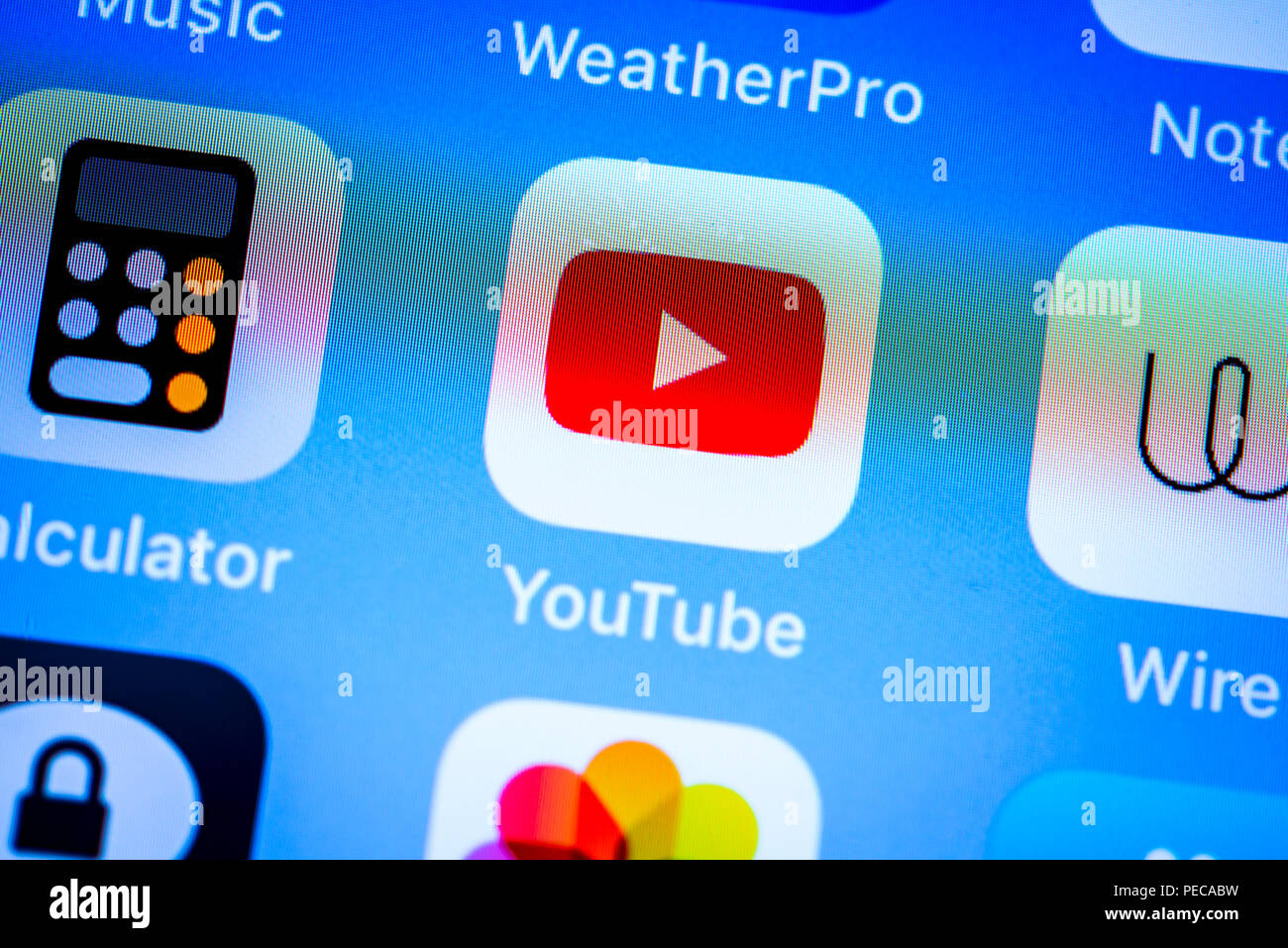 Video Platform Youtube App Icon On Iphone Ios Smartphone Screen