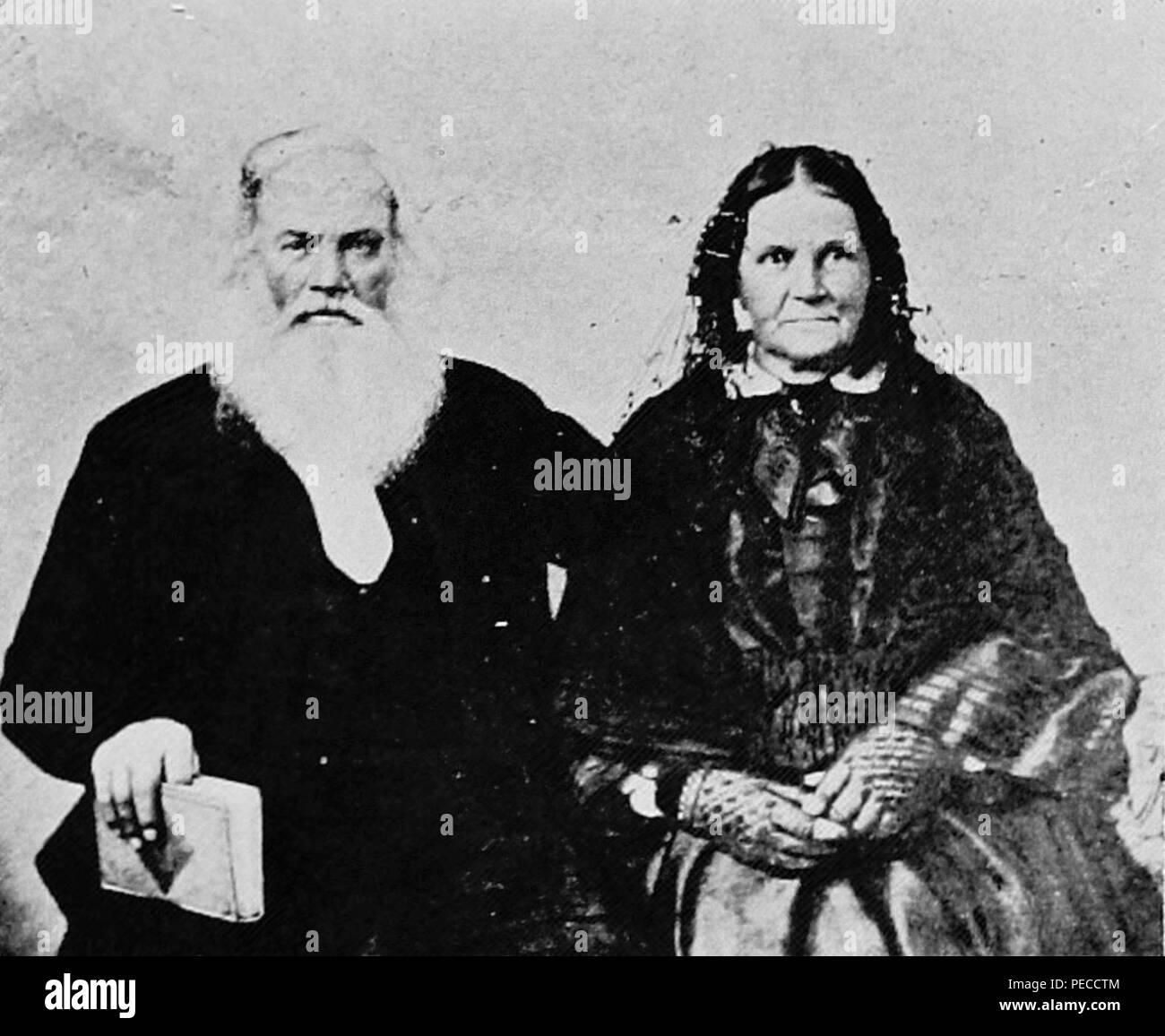 Asa and Lucy Thurston (full). Stock Photo