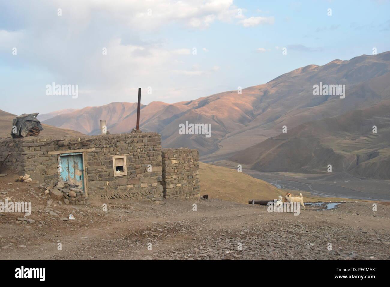 Khinalig, Quba, Aerbaijan - Stock Image