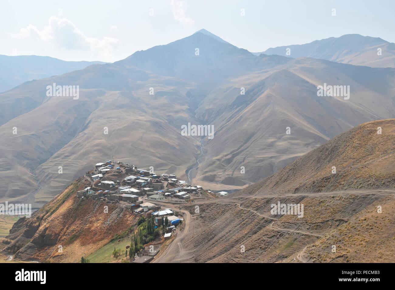 Mountain Town, Khinalig, Quba, Azerbaijan - Stock Image