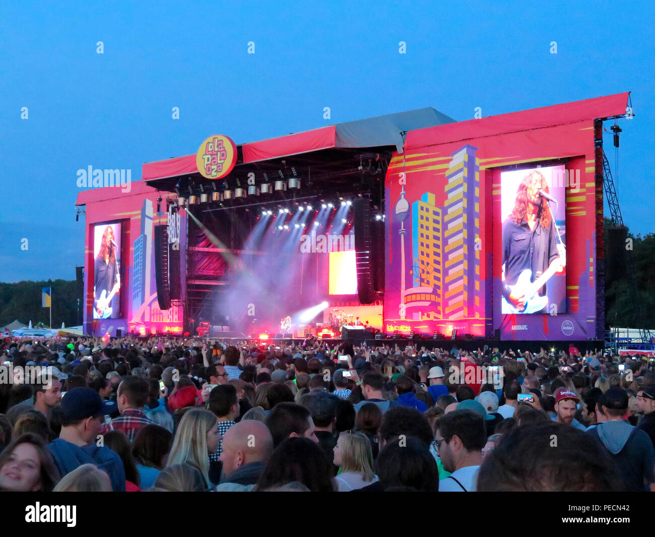 Foo Fighters, Konzert, Lollapalooza, Festival, Hoppegarten, Brandenburg, Deutschland - Stock Image