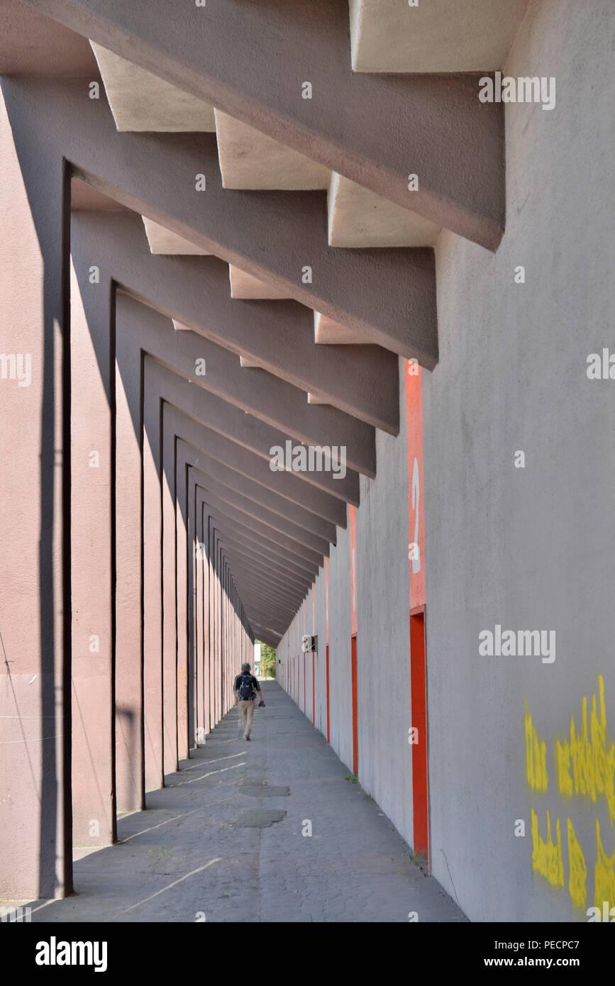 AVUS-Tribuene, Westend, Charlottenburg, Berlin, Deutschland - Stock Image